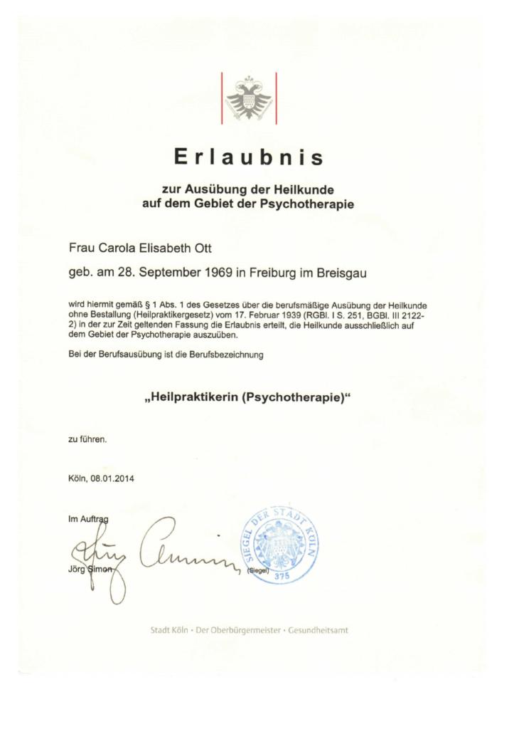 Zertifikat Psychotherapie - Traumatherapie - Teamberatung - Essstörung - Anorexie - Somatic Experiencing